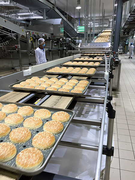 bread bun production line