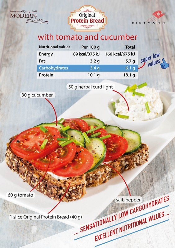 Protein with Tomato and Cucumber